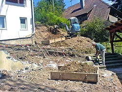 Aufgang zum Ev. Gemeindehaus Tennenbronn