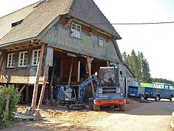 Entkernen von Gebäuden