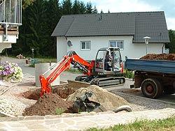 Bau von Zisternen